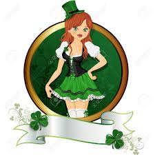 with traditional dress of the feast of st patrick with