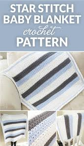 crochet pattern using star stitch star stitch striped baby blanket crochet pattern dabbles babbles