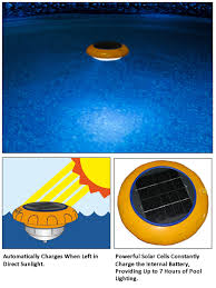 battery operated floating pool lights star shine solar pool light