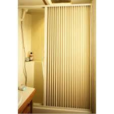 Shower Door 36 Pleated Shower Door Ivory Up To 36 W X 57 L Irvine Shade
