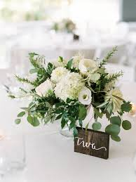 White Centerpieces The Perfect Summer Wedding In Maine Hydrangea Flowers And Rose
