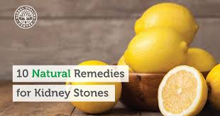 10 natural remedies for kidney stones