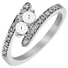 mothers rings 2 stones 2 bypass mothers ring in 14kt white gold with diamonds 1 10ct