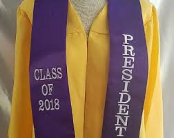custom graduation sashes custom graduation stole etsy