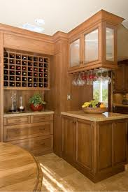 Dining Room Glass Cabinets by Wine Area Serves As A Divider Between Kitchen U0026 Dining Room The