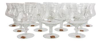 cocktail glass set avitra handmade crystal shrimp cocktail glasses u0026 inserts set of