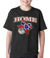 Texas Home Confederate Rebel Flag Texas Home Kids T Shirt