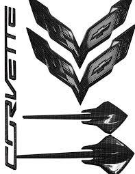 2014 corvette stingray emblem c7 corvette stingray 2014 hydro carbon fiber emblem package