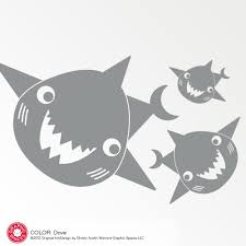 happy shark family wall decals graphic spaces
