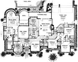 house plans monster luxury style house plans 3504 square foot home 1 story 4