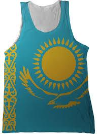Us Virgin Island Flag Kazakhstan Flag Tank Top Nation Tanks