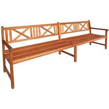 panchina in legno da esterno robusta panca da giardino in legno massello di acacia 240x56x90 cm