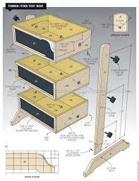 Wood Toy Chest Plans by Three Tier Toy Box Plans U2022 Woodarchivist