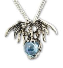 crystal ball pendant necklace images Mystical dragon with blue crystal ball pendant necklace nk 584 jpg