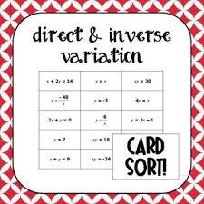 direct and inverse variation worksheets worksheets