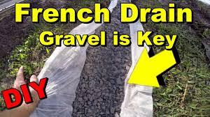 french drain to sump pump gravel perforated pipe diy backyard