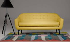 canape jaune cuir canapé cuir jaune 3 places