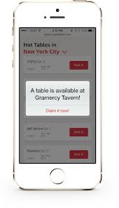 opentable tables pilot program introduces mobile alerts for