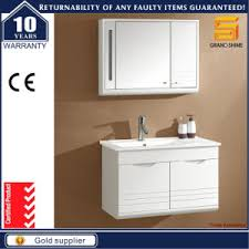Solid Wood Bathroom Cabinet China Solid Wood White Lacquer Wall Mounted Bathroom Furniture