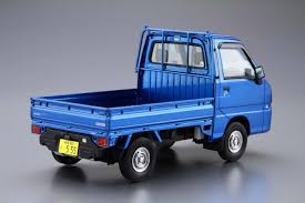 subaru sambar truck engine aoshima 51559 the model car 04 subaru tt2 sambar truck wr blue