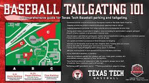 Ohio University Parking Map by Baseball Parking U0026 Tailgating Regulations Announced Texas Tech