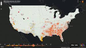 Synonym For Map Map Of Lynchings In The Us 1835 1964 2560x1446 Mapporn