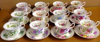 Flowers Of The Month Vintage English China Tea Sets And Teapots