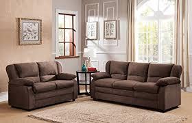 microfiber sofa and loveseat amazon com kings brand furniture chocolate microfiber sofa
