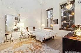 apartment bedroom 3d rendering of modern loft style bedroom in