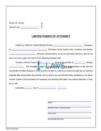 form 01 137 limited power of attorney texas forms laws com