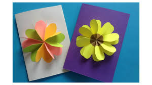 how to make easy flower card diy flower card template 02 by