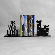 Book End As You Wish Metal Art Bookends Castle Movies Books The