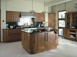 walnut kitchen cabinets modern silver stove modern cabinet island