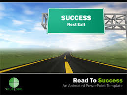 road to success a powerpoint template from presentermedia com