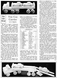 wooden toy car carrier plans u2022 woodarchivist
