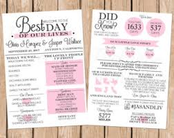 Wording For Wedding Programs Infographic Wedding Program