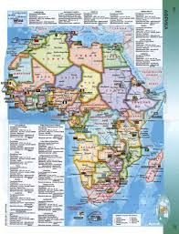 map 4 africa detailed political map of africa in russian africa mapsland
