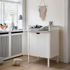 white nursery changing table sebra changing unit luxury nursery furniture scandibørn