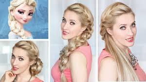 lilith moon youtube frozen elsa braid hairstyle new year u0027s eve hair tutorial bun and