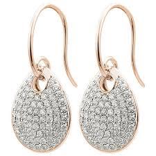 teardrop diamond earrings mazal diamond 1 16ct f i1 teardrop diamond earrings
