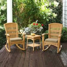 Wicker Patio Dining Set - details about 3 piece wicker patio shop hanover outdoor furniture