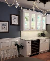 glass cabinets in white kitchen refaced white and gray kitchen nj distinctive