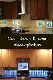 Backsplash Ideas Kitchen Glass Block Backsplash Awesome Kitchen Backsplashes Design For