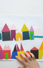 diy paint chip city kids craft city art paint chips and art