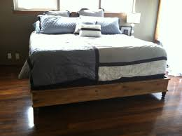King Size Platform Bed Design Plans by Ana White King Size Platform Bed Diy Projects