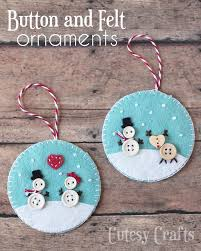 button and felt diy ornaments diy