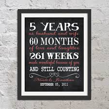 5 years anniversary gift five year anniversary gift for husband gift for personalized