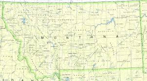 Montana City Map by Reisenett Montana Maps