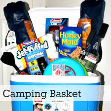 Themed Gift Basket Ideas Camping Auction Raffle Basket My Pins Pinterest Raffle