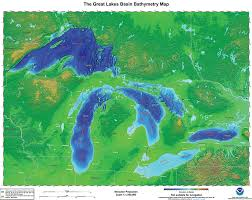 Lake Erie Map Great Lakes Bathymetry And Shoreline Data Noaa Great Lakes